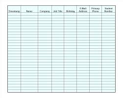 Printable Sign Up Sheet Template Raffle Example – Giancarlosopo.info