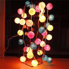 Decorative String Balls Best 32bulbset Cotton Balls Christmas Decorative LED Lights String