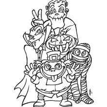 Small Picture HALLOWEEN MONSTERS coloring pages 51 creatures to color for