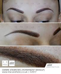 permanent eyebrows picture taken straight after the procedure