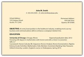 Resume Objective Examples How To Right An For Objectives Templates