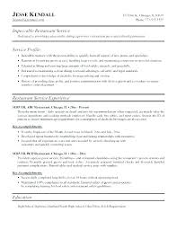 Server Resume Skills Stunning 7722 Server Resumes Food Service Resume Template Resume Examples