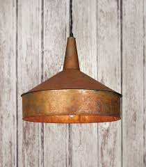 lighting industrial. needing rustic pendant lighting look no further than our metal light funnel industrial