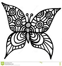 Farfalla Isolata Decorativa Per Il Tatuaggio Il Libro Da Colorare O
