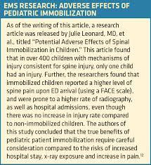Pediatric Technique Chart Pediatric Spinal Cord Injuries Ems World
