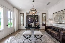 ceiling lights for home office. Jacksonville Display Case Home Office Transitional With Wall Mirrors Leather Sofas Area Rug Ceiling Lights For S