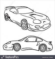 Sports car sketches illustration