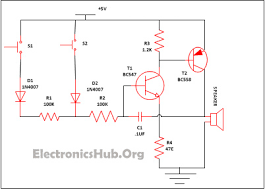 simple security alarm circuit working and applications security alarm circuit diagram
