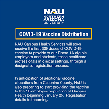 Information about all vaccination sites across arizona can be found at azhealth.gov/findvaccine. Northern Arizona University Everything You Need To Know About Nau S Current Vaccine Distribution Nau Edu Vaccine Facebook
