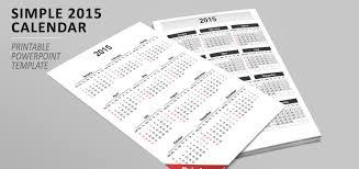 Simple Calendar 2015 For Powerpoint