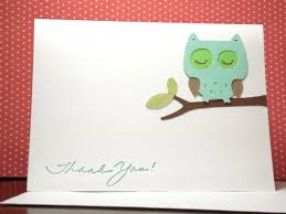 Owl Baby Shower Thank You Note Card Set Handmade Owl Gender Neu Owl Baby Shower Thank You Cards