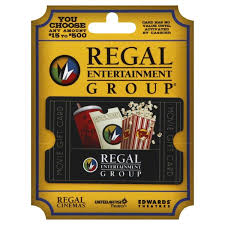 Regal Entertainment Group Gift Card 25 To 500 Card 1 Ct