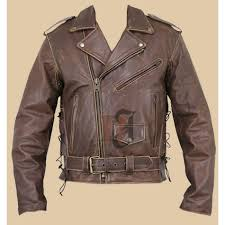terminator brando brown distressed leather jacket