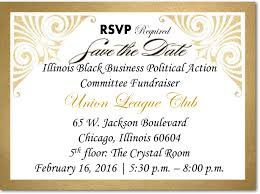 Political Fundraising Invitations Illinois Black Business Political Action Committee