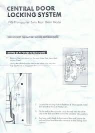 central locking barn door vw t forum vw t forum this might help also the rest of the instructions