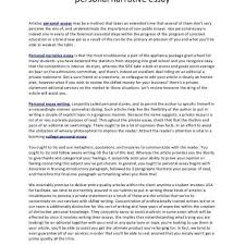Personal Narrative College Essay Examples Example Of Narrative Essay About Family Personal Narrative
