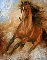 abstract horse painting horse1 by arthur braginsky