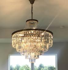 6 tier 32 odeon crystal fringe chandelier