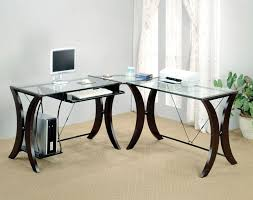 use glass surfaces contemporary desk black ikea glass top desk