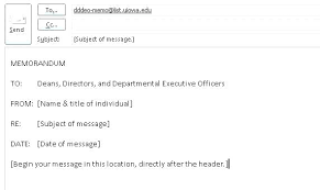 Email Memorandum Format Writing Business Messages Message Format Email In English A
