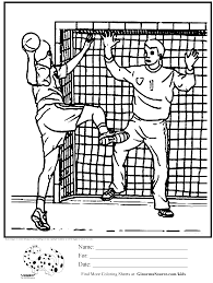 Olympic Handball Coloring Page Handbal Handbal