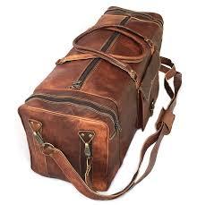 brown leather harrison duffle bag