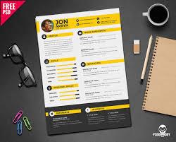 Download Creative Resume Template Free Psd Psddaddy Com