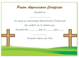Anniversary Certificate Template Delectable Pastor Anniversary Appreciation Certificate Pastor Appreciation