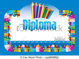 diploma for children for achievements vector illustration search  diploma for children vector