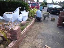 Small Picture Rebuilding A Front garden Wall UK Aug 2012 YouTube