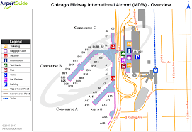 chicago  chicago midway international (mdw) airport terminal maps