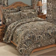 camo comforter set and curtains