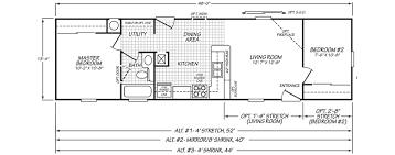 mobile home floor plans single wide