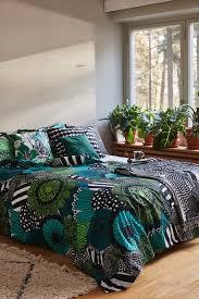 marimekko siirtolapuutarha duvet cover 150 x 210 cm white green black