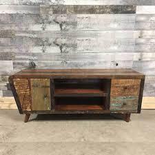 wooden tv cabinet. Vintage Reclaimed Wood TV Unit Display Cabinet Wooden Tv