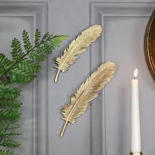 pair of feather wall art on gold leaf feather wall art with pair of feather wall art andrews living arts look wonderful