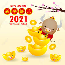The coronavirus pandemic is forcing many people around the world to change the way they celebrate lunar new year, the most important holiday in the chinese zodiac calendar. Happy Chinese New Year 2021 Greeting Card The Year Of The Ox Royalty Free Cliparts Vectors And Stock Illustration Image 142349099