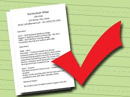 How To Write A Cv For Medical School 7 Steps With Pictures In
