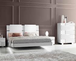 Modern White Floating Bed