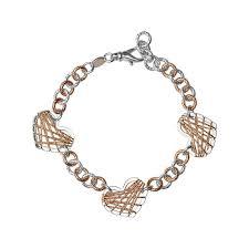 Dream Catcher Gold Bracelet Dream Catcher Triple Heart Rose Gold Bracelet Links Of London 60