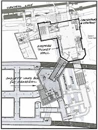 This plan shows the full plexity of the whole site extending way beyond the open excavation for the eastern ticket hall and escalators seen from our