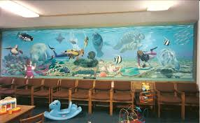>bonnie siracusa murals fine art salt water aquarium mural for dr klein s office waiting room