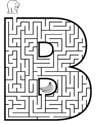 Letter B Maze Printable Coloring Page Book For Kids