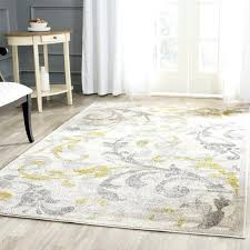 yellow and gray rug fl ivory light grey indoor outdoor area