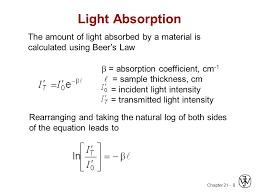 8 light absorption