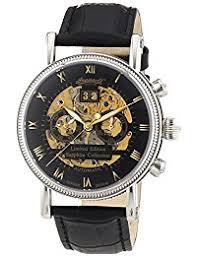 amazon co uk ingersoll watches ingersoll men s automatic watch alaska in7910bk leather strap