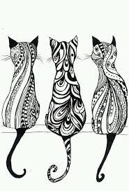 Zentangle Tumblr Immagine Cose Da Disegnare Stampe Di Gatti E