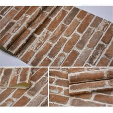 akea faux old brick wallpaper roll flat 3d effect blocks stone look removable wall paper vintage