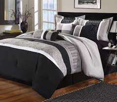 luxury home euphoria black grey embroidered 8 piece comforter set out of stock