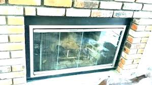 removing fireplace doors cleaning glass fireplace doors ceramic removing wood
